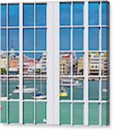 Brilliant Bermuda Cityscape Windows Canvas Print
