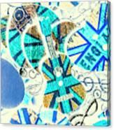 Britain Blues Canvas Print
