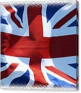 British Union Jack Flag T-shirt Canvas Print