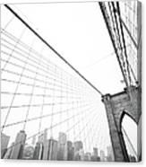Brooklyn Bridge Cityscape Canvas Print