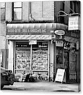 Brooklyn Deli Black White  Canvas Print