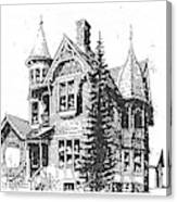 Brooks Hotel, Corvallis, Montana Canvas Print