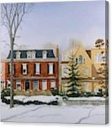 Broom Street Snow Canvas Print