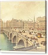 Broomielaw Bridge In Glasgow Canvas Print