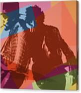 Bruce And The Big Man Pop Art Canvas Print