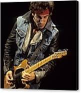 Bruce Springsteen Performs Live Canvas Print