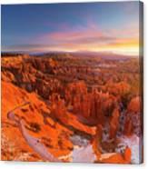 Bryce Canyon National Park At Sunset Canvas Print
