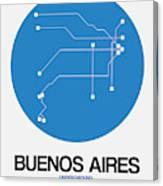 Buenos Aires Blue Subway Map Canvas Print