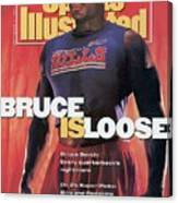 Buffalo Bills Bruce Smith, 1991 Nfl Football Preview Sports Illustrated Cover Canvas Print