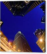 Buildings, Low Angle View Canvas Print