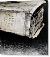 A Book Of Survival Canvas Print
