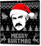 Burt Reynolds Christmas Shirt Canvas Print