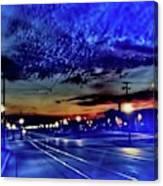 Bus Stop Sunrise Canvas Print