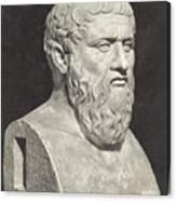 Bust Of Grecian Philosopher Plato Canvas Print