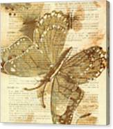 Butterfly Antiquities Canvas Print