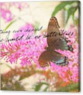 Butterfly Kisses Quote Canvas Print