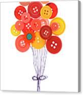 Buttons As Balloons Canvas Print
