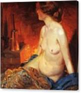 By The Fireside 1910 Canvas Print