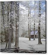 Cabin In The Smoky's II Canvas Print