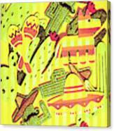 Cactus Carnival Canvas Print