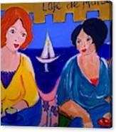 Cafe De Marseille Canvas Print