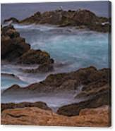 California Coastal Water Motion Canvas Print