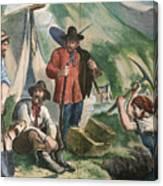 California Gold Diggers Illustration Canvas Print