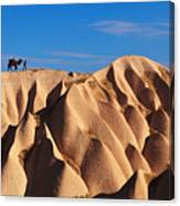 Camel And The Cameleer On The Rock Canvas Print