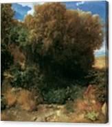 Campagna Landscape 1858 Canvas Print