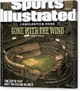 Candlestick Park Gone With The Wind Sports Illustrated Cover Canvas Print