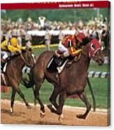 Cannonade, 1974 Kentucky Derby Sports Illustrated Cover Canvas Print