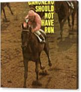 Canonero II, 1971 Belmont Stakes Sports Illustrated Cover Canvas Print
