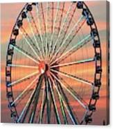 Capital Wheel Shining At Sunset  Canvas Print