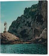 Capri Lighthouse Canvas Print