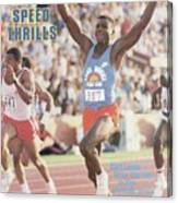 Carl Lewis, 1984 Us Olympic Track & Field Trials Sports Illustrated Cover Canvas Print