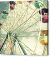 Carolina Beach Ferris Wheel Canvas Print