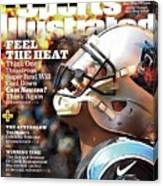 Carolina Panthers Cam Newton, 2016 Nfl Football Preview Sports Illustrated Cover Canvas Print
