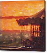 Carousel of Honfleur Canvas Print