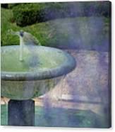 Castel Fountain Canvas Print