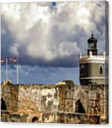 Castillo San Felipe Del Morro Lighthouse San Juan, Puerto Rico  Canvas Print