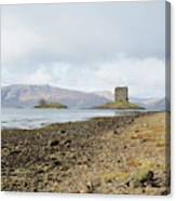 castle Stalker in late autumn Canvas Print