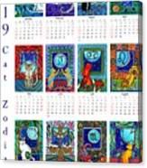 Cat Zodiacs Calendar Canvas Print