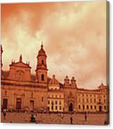 Cathedral In Bogota, Colombia, South Canvas Print