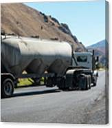 Cement Truck Turning Canvas Print