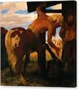 Centaur At The Village Blacksmith Shop 1888 Canvas Print