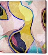 Chaotic Abstract Shapes Canvas Print