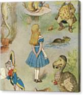 Characters From Alice In Wonderland  Canvas Print