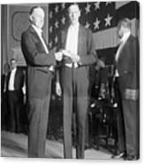 Charles Lindbergh Receiving Hubbard Canvas Print