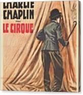 Charlie Chaplin Dans Le Cirque - Vintage Advertising Poster Canvas Print