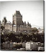 Chateau Frontenac From Levis, Quebec Canvas Print